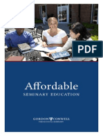 Gordon-Conwell Affordability Booklet