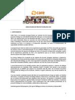 TDR Linea de Base de Proyecto Dialogo Sur