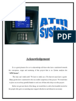 ATM Simulation Full DoCumEntary with Code | Automated Teller