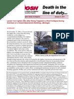 NIOSH LODD Report, Walt Harris, Detroit Fire Dept.  2010