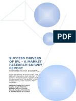 Success Drivers of Ipl - Draft 1