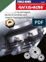 Fresa para faceamento de alta eficiência em ferro fundido AHX640W
