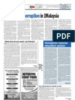 TheSun 2009-08-07 Page12 No Room for Corruption in 1malaysia