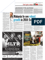 TheSun 2009-08-07 Page14 Malaysia to See Robust Growth in 2010 Economist