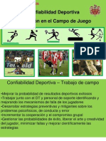 Confiabilidad Deportiva Evaluación en el Campo HEE Consultores