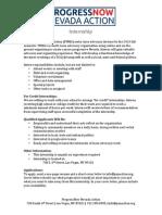 ProgressNow Nevada Action Internship Opportunity