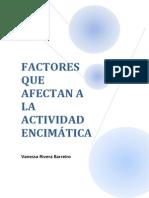 Factores Que Afectan a La Actividad Encimatica