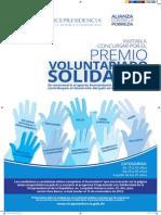 Afiche del Premio Voluntariado Solidario