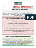 DE - Who Is Behind The Caesar Rodney Institute