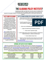AL - Who Is Behind The Alabama Policy Institute