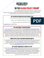 AK - Who is Behind The Alaska Policy Forum