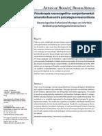 Psicoterapia neurocognitivo-comportamental - uma interface entre psicologia e neurociência