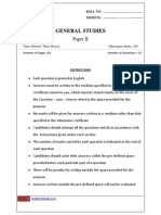 Gs II Model Test Paper