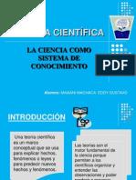1º TEORÍA CIENTÍFICA Y LA CIENCIA COMO SISTEMA DE CONOCIMIEN