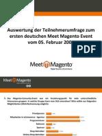 Umfrage-Auswertung Meet Magento #1.09