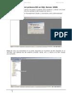 Practica 1 - Creación y uso de mi primera BD en SQL Server 2008