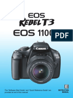 Canon DSLR camera Instruction Manual
