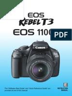 Canon DSLR camera Instruction Manual