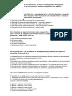 64 QUESTÕES DE CONHECIMENTOS PEDAGÓGICOS PARA PROFESSOR (COM GABARITO).