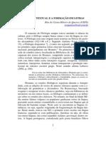 A Critica Textual e a Formacao Em Letras RITA