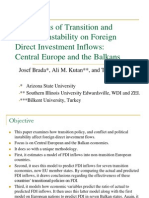 The effect of terrorism & political instability on foreign direct investment