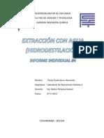 Extraccion Con Agua (Hidrodestilacion). Esquemas y Aplicaciones - Flores Pardo Bruno Alexandre