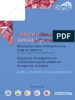 Engins Terrassement Verifications Initiales Levage