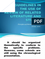 Guidelines in the Use of Review of Related Literature and Studies.ppt