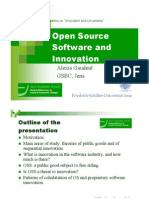 Open source software and innovation