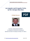 Regular and Irregular Verbs, by M.C. Enrique Ruiz Díaz