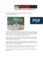 14-08-2013 Sexenio Puebla - Apoyo de EPN permitió avances turísticos en Puebla, RMV