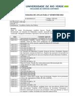 CTB301 Contabilidade Introdutória II_Cronograma 1º 2012