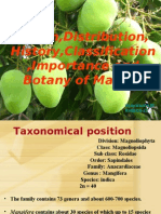 Origin,Distribution, History,Classification ,Importance and Botany of Mango