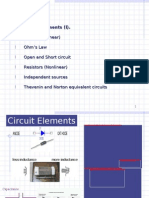 Circuit Elements (i). Resistors (Linear) Ohm's Law Open and Short