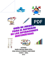 GUIA DE JUEGOS PARA EL REFUERZO DE LAS OPERACIONES BÁSICAS