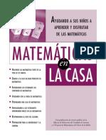 MATEMÁTICAS EN LA CASA