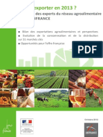 Ubifrance Export Agroalimentaire - Etude Ou-exporter-En-2013