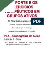 Aulas 8-9 - Esporte e Exercícios Terapêuticos em Grupos Ativos