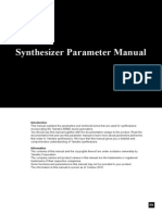 Yamaha CP4 - Synthesizer Parameter Manual