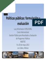 Políticas Públicas Formulación y Evaluación
