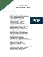 POEMAS JOVENES, POR GUILLERMO E. MATTA