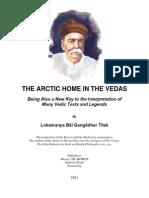 Tilak, Lokamanya - The Arctic Home in the Vedas