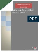 Rosete Ruiz Erick Jair Memoria y tolerancia