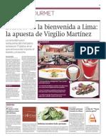 Virgilio Martínez apuesta por el tiradito en su nuevo restaurante en Londres