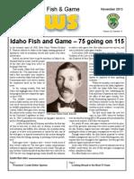 History at a Glance - 75th Idaho Fish and Game Celebration