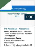 2013 year 10 psychology week 2