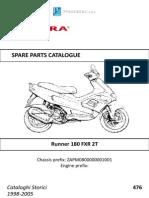 Catalogo de Partes GILERA RUNNER 180 FXR 2T