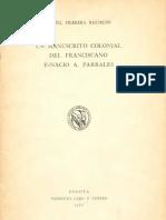Un Manuscrito Colonial Del Franciscano Ignacio a. Parrales