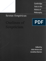 Sextus Empiricus Outlines of Scepticism Cambridge Texts in the History of Philosophy