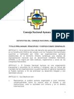 Estatutos Consejo Nacional Aymara